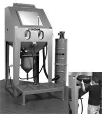 sandblast cabinet gun